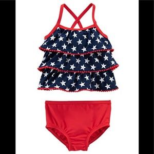Carter's 2pc Tankini - Red, White and Blue Stars